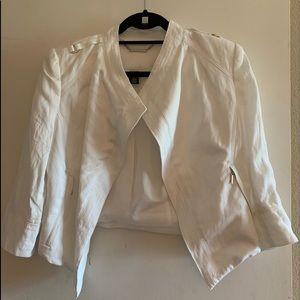 White House Black Market white cropped jacket